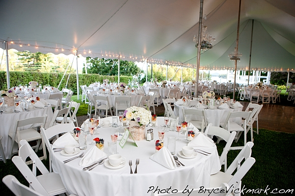 RECEPTION AREA OPTIONS Tent Wedding Lake Winnipesaukee